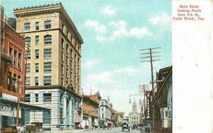 C-1910 Fort Worth Texas Main Street 5th International Postcard 4028