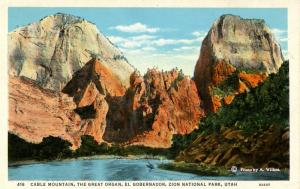 UT - Zion National Park. Cable Mountain, The Great Organ, El Gobernador