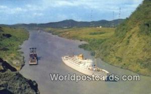 Panama Panama Canal MS Bergensfjord, Culebra Cut