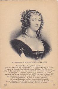 Henriette D'Angleterre 1644-1670