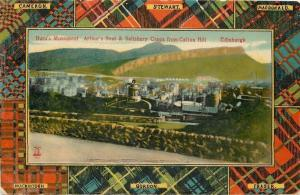 Edinburgh Scotland~Clans Tartan Plaid Border~Arthur's Seat~Stewart~Mackintosh
