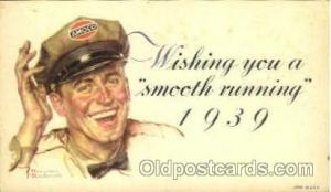 Advertising Postcard Post Card Amoco, Artist Norman Rockwell Unused