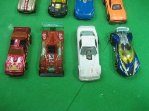 Vintage Lot of Sixteen (16) Toy Cars Various Styles & Colors Orange Gray & Red