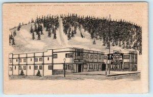 STEAMBOAT SPRINGS, CO Colorado HOTEL HARBOR c1940s  Roadside Postcard