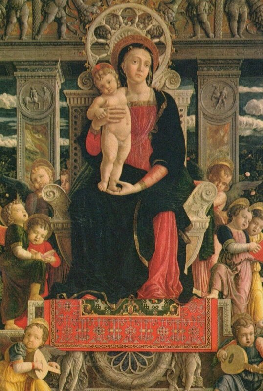 VERONA -S. ZENO BASILICA Tryptych by Mantegna Vintage Postcard