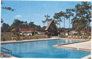 KOA Kampground Pool Scene, Kissimmee, Florida, FL, Chrome