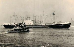 New York Harbor THe Holland-America Line Kamperdyk RPPC 05.12