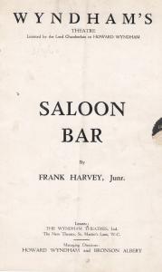 Saloon Bar Anna Konstam Ealing Studios Drama Film Theatre Programme