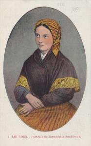 France Lourdes Portrait de Bernadette Soubirous