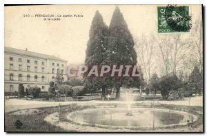 Old Postcard Perigueux The Public Garden and the Lycee