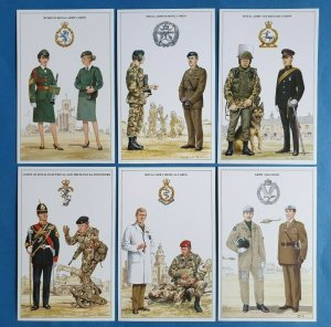 British Army Support Arm & Services Postcards Set of 6 Set 2 by Geoff White Ltd