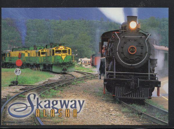 White Pass & Yukon RR  Steam & Diesel Engines, Skagway, unused