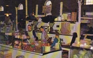 Pennsylvania Dutch Country Amish Girls Tend Market Wilkes Barre Pennsylvania