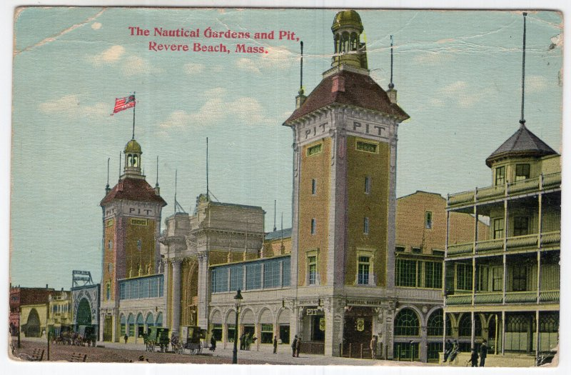 Revere Beach, Mass, The Nautical Gardens and Pit