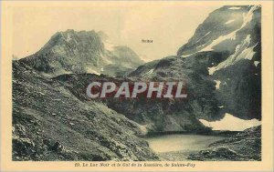 Postcard The Old Black Lake and the Col de la Sainte Foy Sassiere