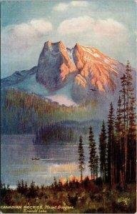Emerald Lake Mount Burgess BC Tuck Unused Postcard E82