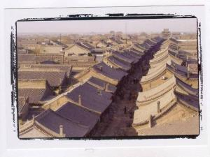 People´s Republic of China: SHANXI province , rooftop view, 2000
