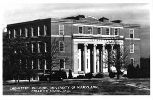 College Park Maryland University Chem Bldg Real Photo Vintage Postcard K106444