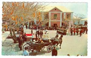 The peppercorn cermony at Market Square, St. Georges, Bermuda, 40-60s
