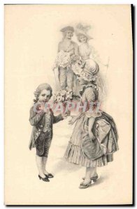 Old Postcard Fantaisie Kids