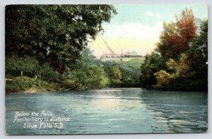 Sioux Falls South Dakota~Below the Falls~State Penitentiary in Distance~1908