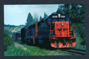 WA Western Pacific Railroad Train MICA WASHINGTON State Postcard RR