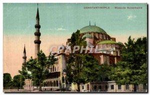 Postcard Old Constantinople Turkey Mosque Suleymanie