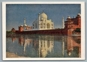 1958 TAJ-MAHAL in AGRA INDIA near River by Vereshchagin Soviet USSR Postcard