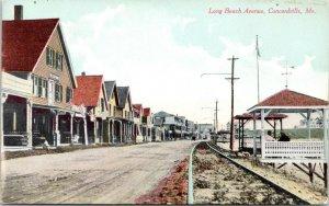 Concordville Maine~Railroad Tracks Along Long Beach Avenue~Hotels~Gazebo~c1910