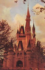 Cinderella Castle at Twilight, Fantasyland, Walt Disney World, Florida, 40-60s