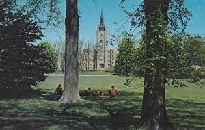 Students relaxing on the lovely campus of University of Western Ontario,  Can...
