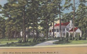 ROCKY MOUNT, North Carolina, 1930-1940's; West Haven, Exclusive Suburb