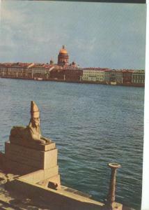 Russia, St. Petersburg, Leningrad, Embankments of the Neva, 1967 unused Postcard