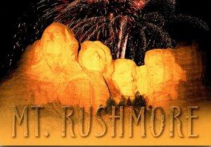 South Dakota Mount Rushmore With Fireworks
