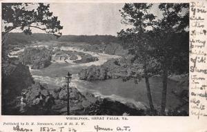 Whirlpool, Great Falls, Virginia, Early Postcard, Used in 1907