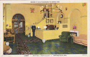 Missouri Springfield Lobby with Bellhop Hotel Seville