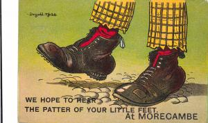 We hope to hear the patter of your little feet at MORECAMBE, Lancashire, 1912