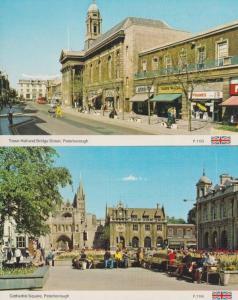 Peterborough Town Hall McDonalds Restaurant James Waller Sale 1970s 2x Postcard