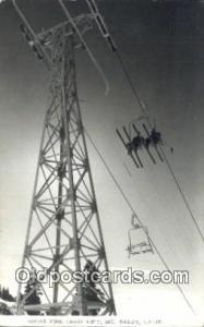 Sugar Pine Chair Lift, Mt Baldy, California, CA USA Skiing Postcard Post Card...