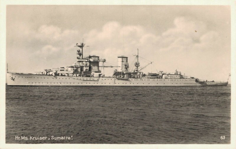 Hr. Ms. Kruiser Sumatra Battleship RPPC  06.25