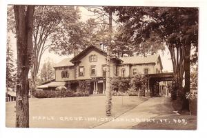 Real Photo, Maple Grove Inn, St Johnsbury, Randolph Vermont, Defender