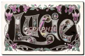 Old Postcard Fancy Surname Lucia