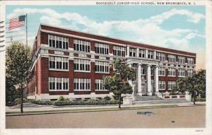 New Jersey New Brunswick Roosevelt Junior High School 1937 Curteich