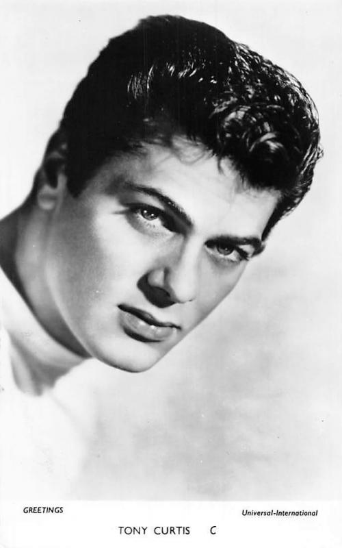 Tony Curtis C, Universal-International, Cinema Movie Star Film Actor Greetings