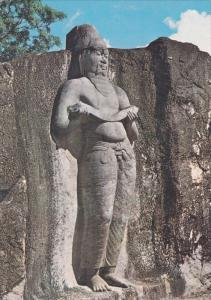 Statue of King Parakrama , Sri Lanka , 50-70s