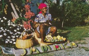 Jamaica Typical Young Fruit Vendor