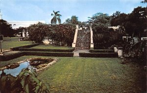 Old Stairway and Lily Pond Agana Guam Unused