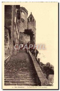Postcard Old Rocamadour The Holy Stairs