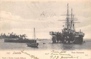 Angola Gabon Loanda, Doca fluctuante, ship, boat 1905