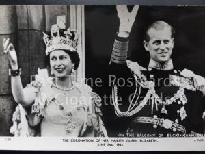 Tuck RP Queen Elizabeth ll Coronation ON THE BALCONY BUCK PAL 2nd June 1953 C32